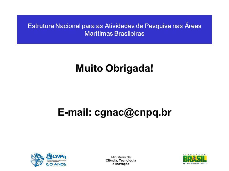 Muito Obrigada! E-mail: cgnac@cnpq.br