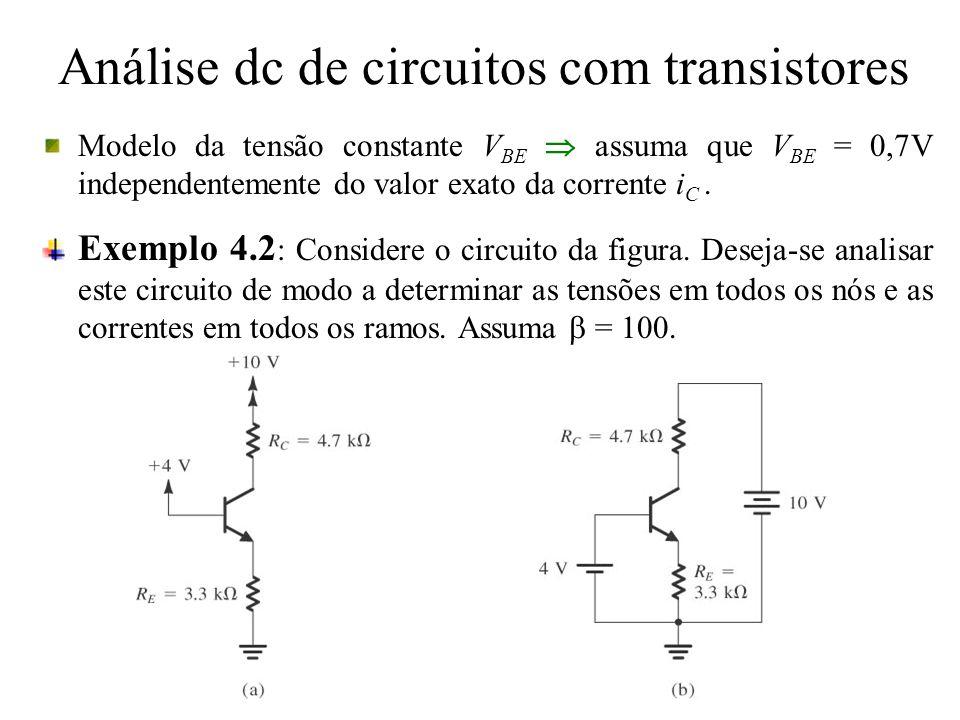 Análise dc de circuitos com transistores