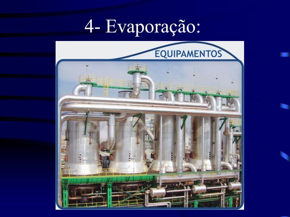4- Evaporação:
