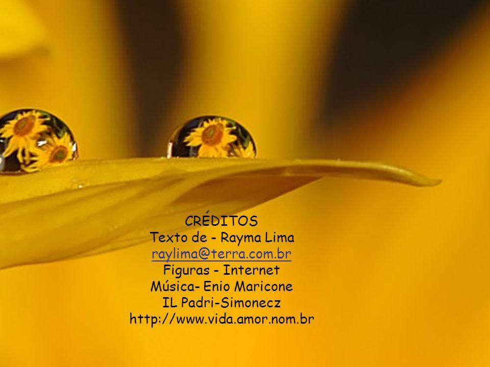CRÉDITOS Texto de - Rayma Lima. raylima@terra.com.br. Figuras - Internet. Música- Enio Maricone.