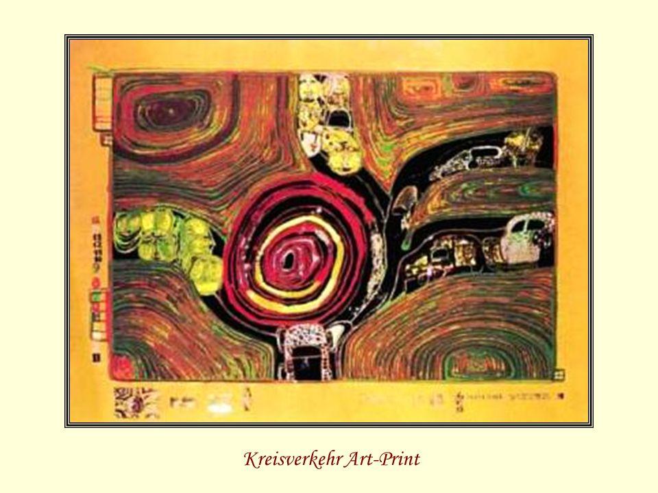 Kreisverkehr Art-Print