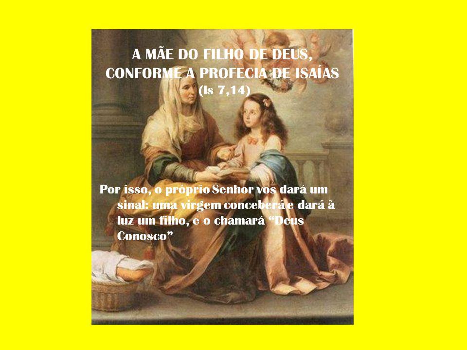 A MÃE DO FILHO DE DEUS, CONFORME A PROFECIA DE ISAÍAS (Is 7,14)