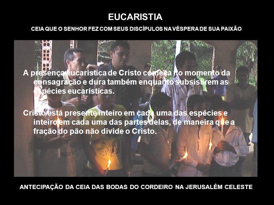 ANTECIPAÇÃO DA CEIA DAS BODAS DO CORDEIRO NA JERUSALÉM CELESTE
