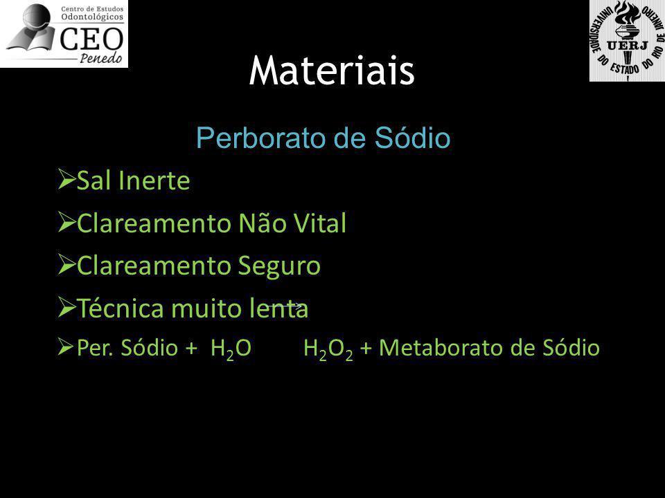 Materiais Perborato de Sódio Sal Inerte Clareamento Não Vital