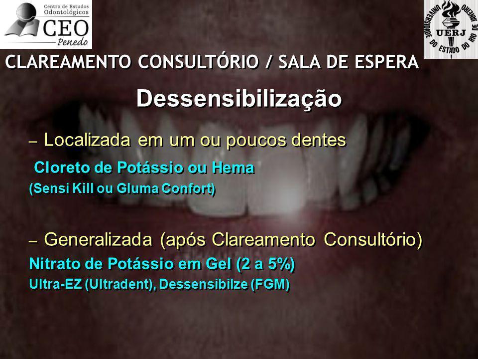 Dessensibilização CLAREAMENTO CONSULTÓRIO / SALA DE ESPERA