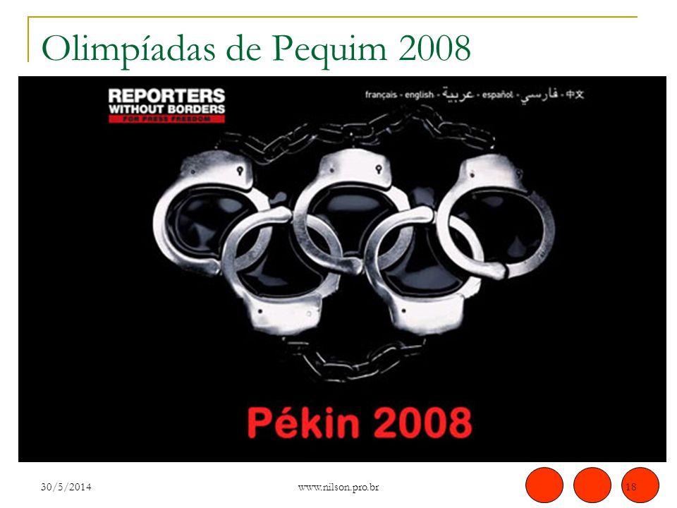 Olimpíadas de Pequim 2008 31/03/2017 www.nilson.pro.br