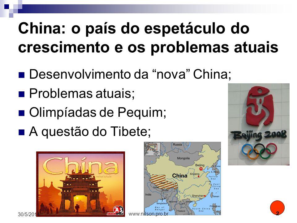 China: o país do espetáculo do crescimento e os problemas atuais