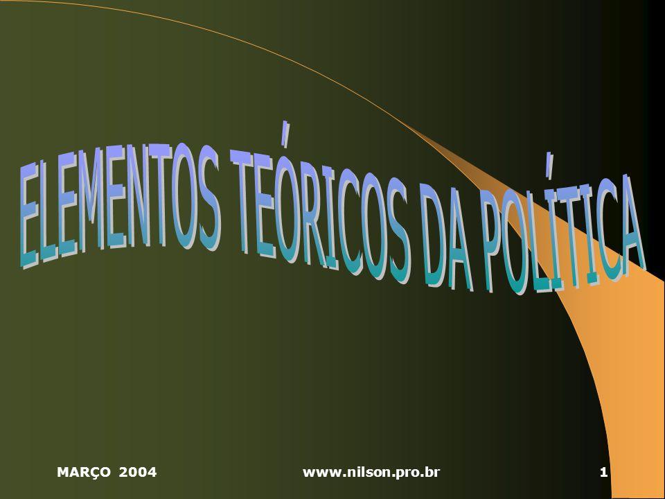ELEMENTOS TEÓRICOS DA POLÍTICA