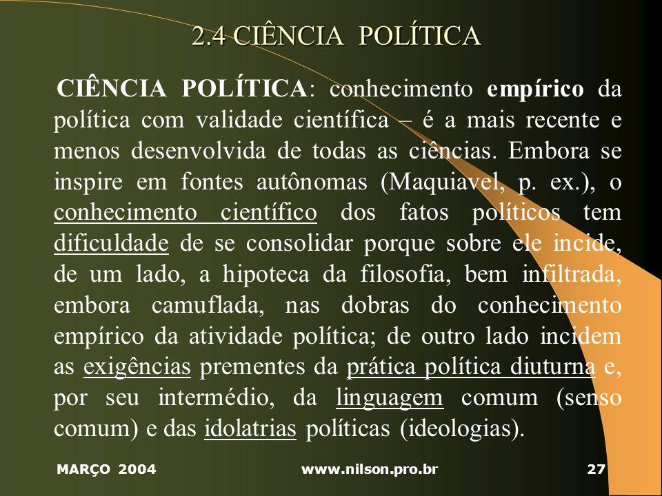 2.4 CIÊNCIA POLÍTICA
