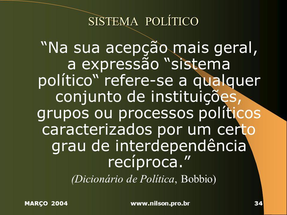 (Dicionário de Política, Bobbio)