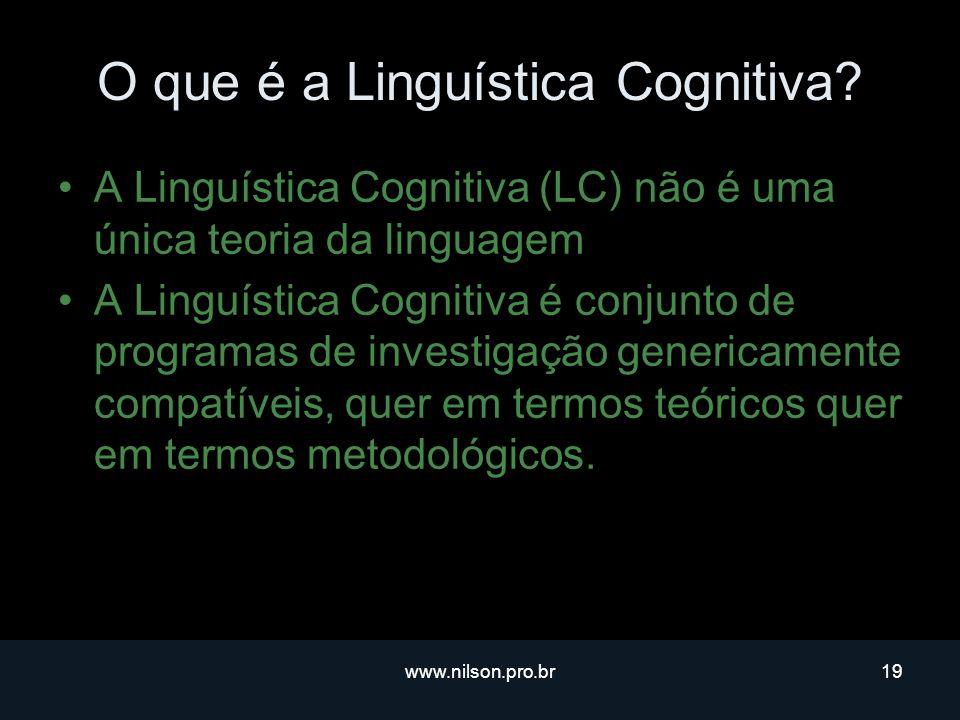 O que é a Linguística Cognitiva
