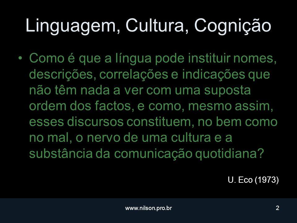 Linguagem, Cultura, Cognição