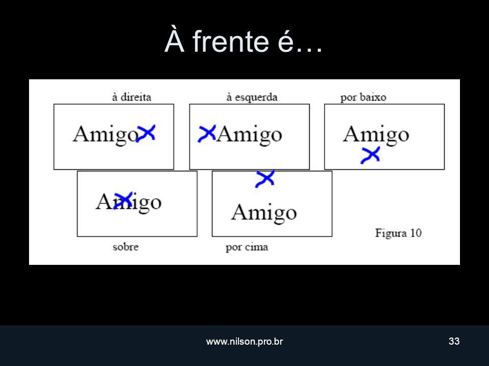 À frente é… www.nilson.pro.br