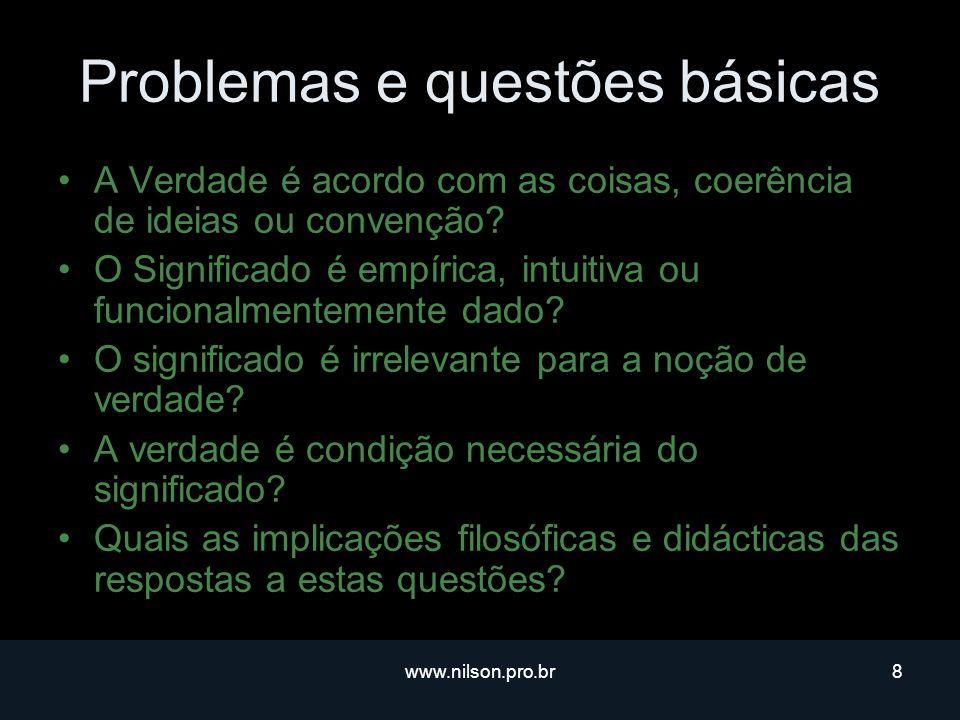 Problemas e questões básicas