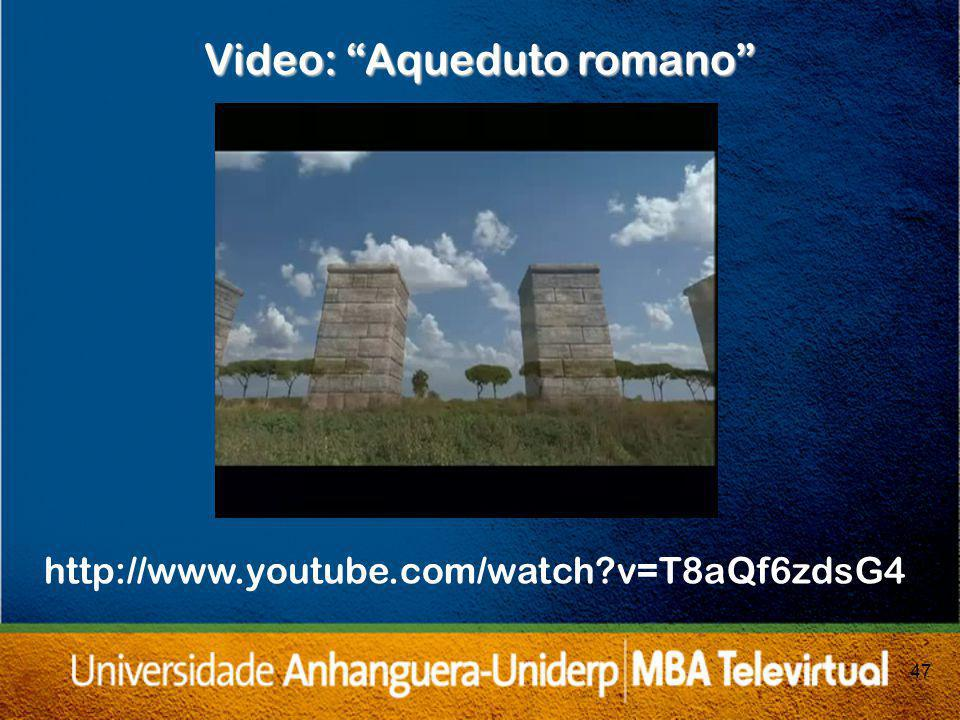 Video: Aqueduto romano