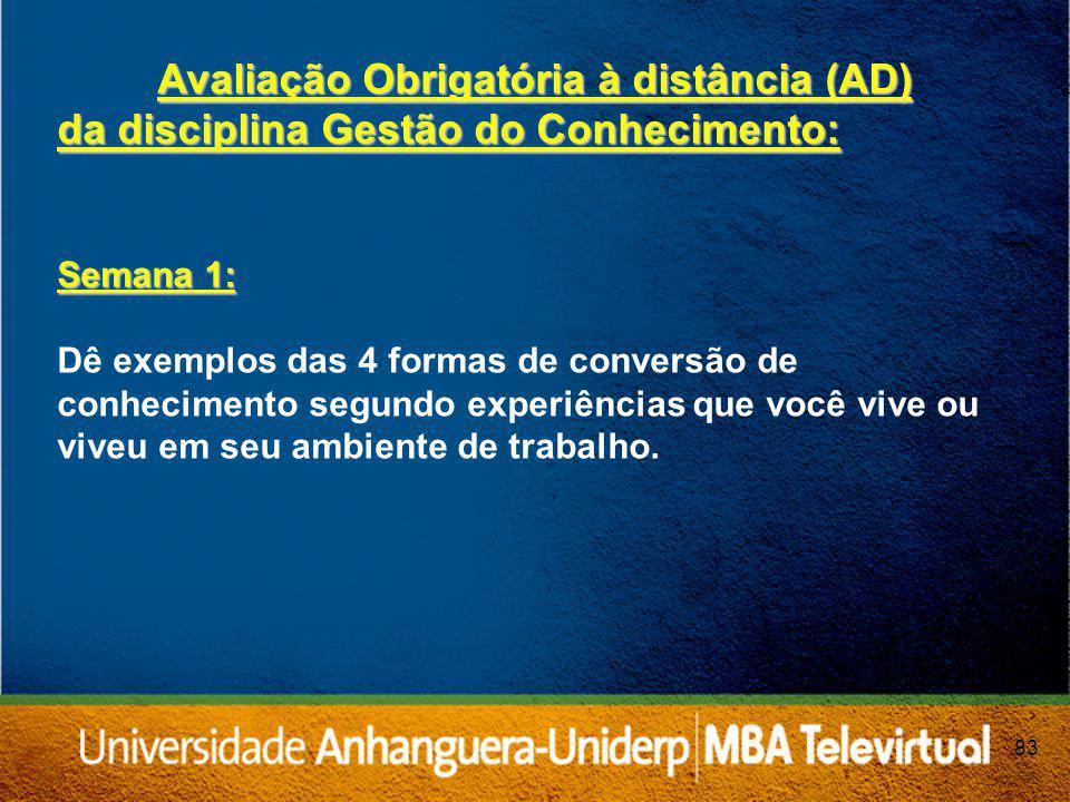 Avaliação Obrigatória à distância (AD)