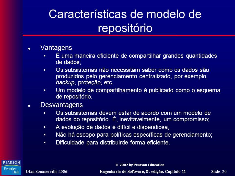 Características de modelo de repositório
