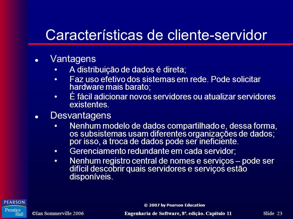 Características de cliente-servidor