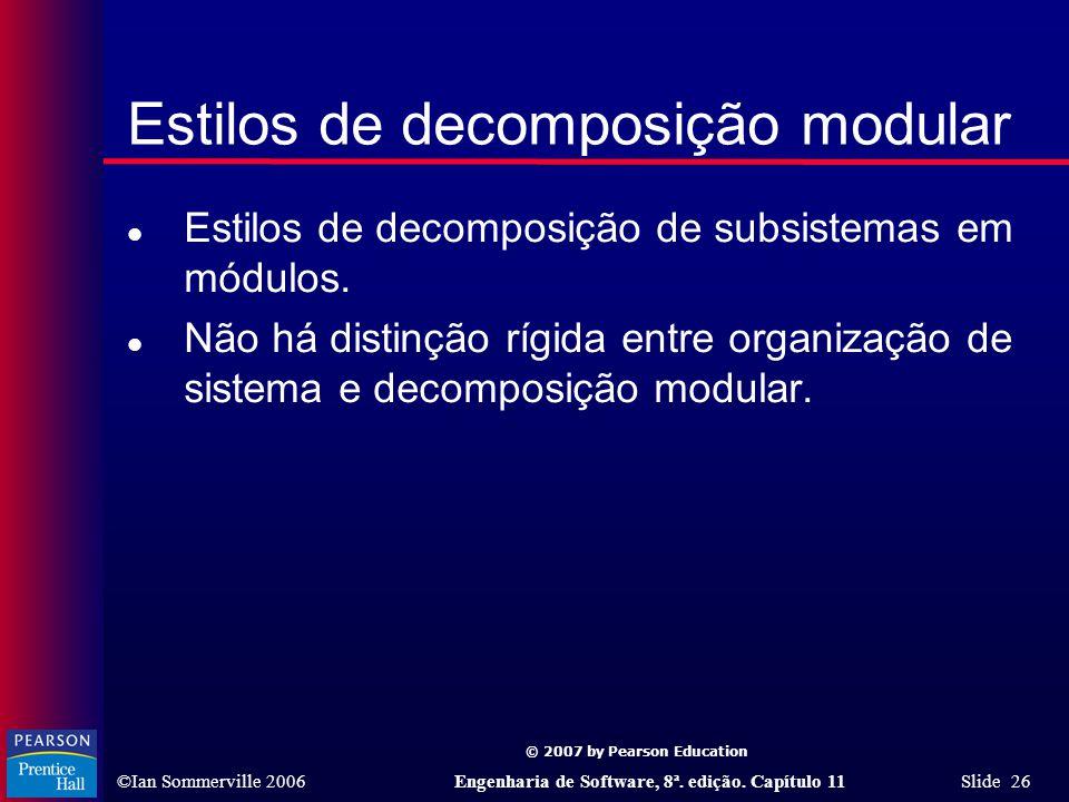 Estilos de decomposição modular