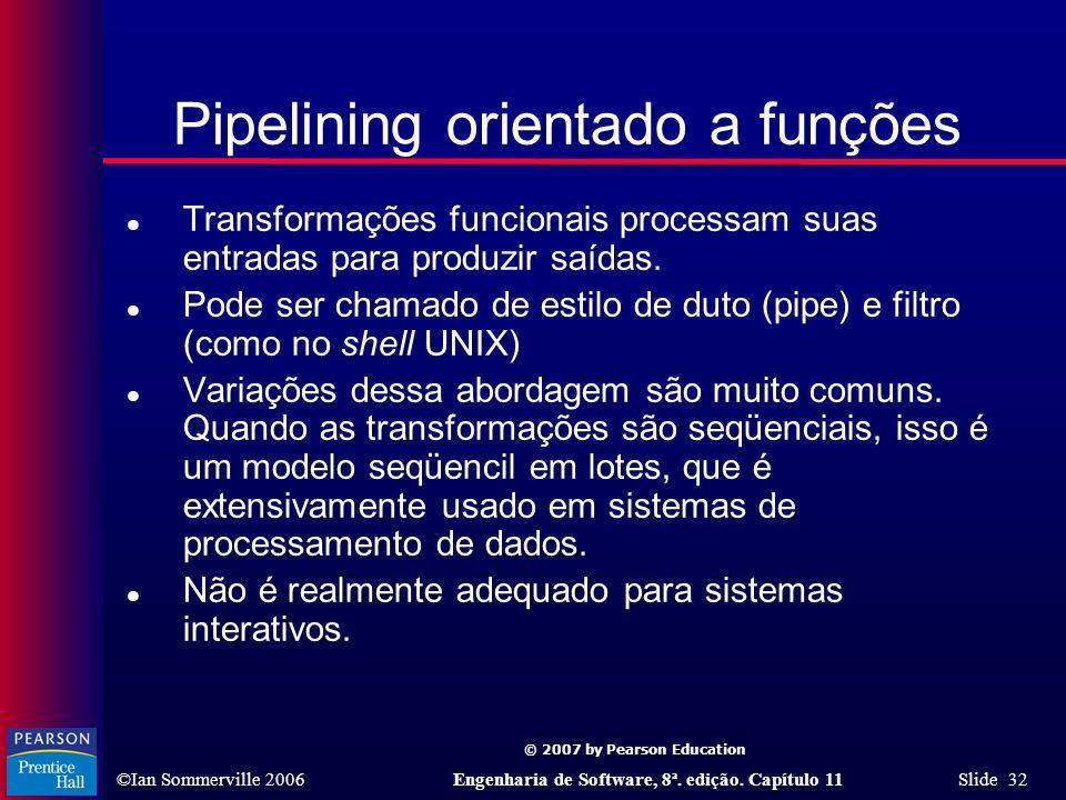 Pipelining orientado a funções