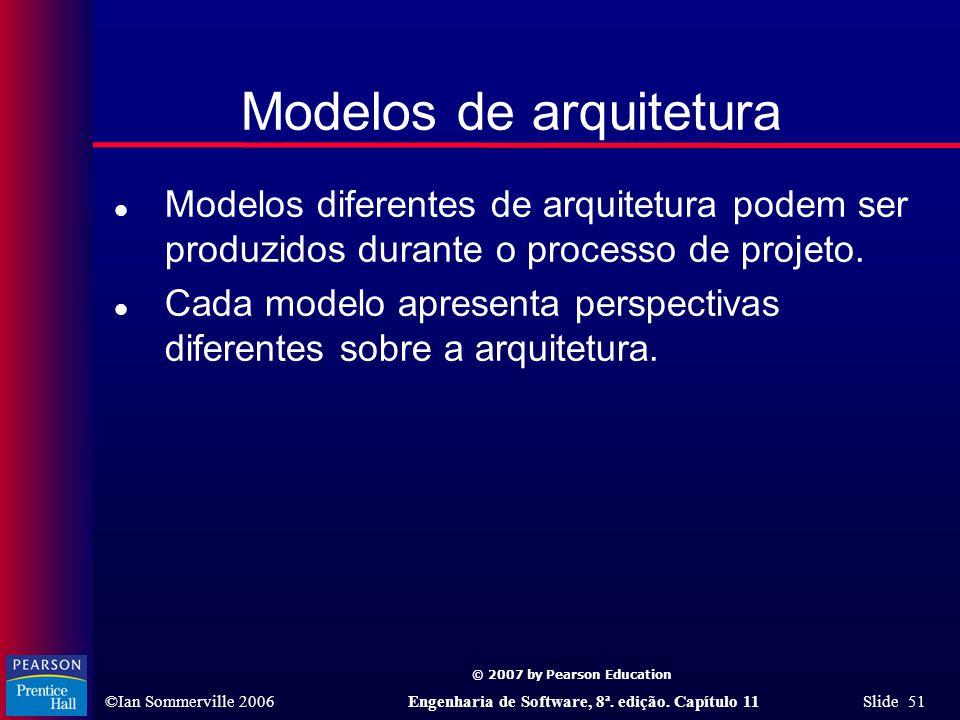 Modelos de arquitetura