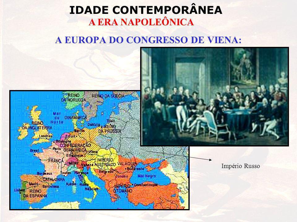 A EUROPA DO CONGRESSO DE VIENA:
