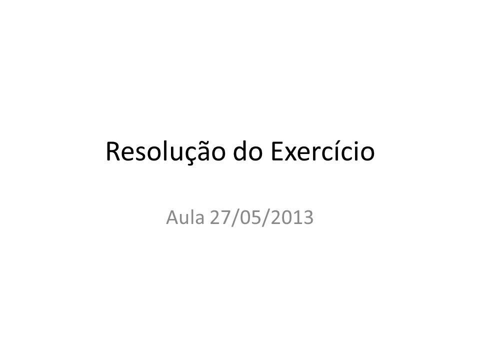 Resolução do Exercício