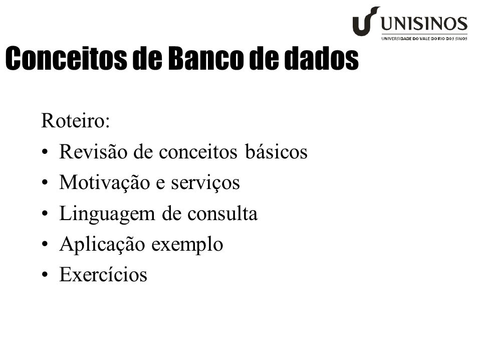 Conceitos de Banco de dados
