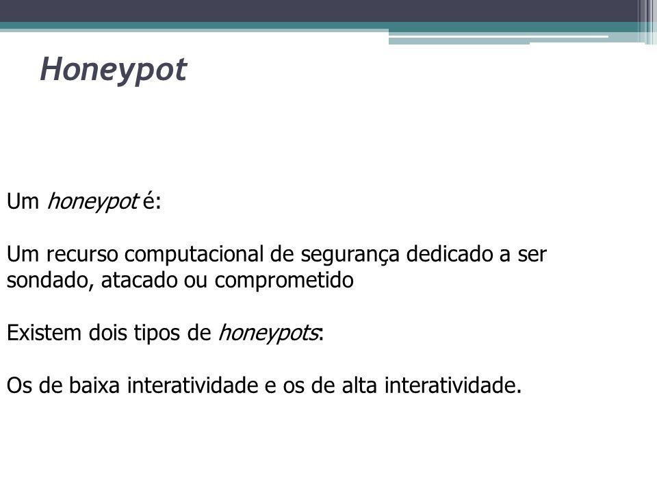Honeypot Um honeypot é: