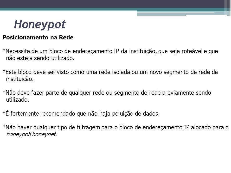 Honeypot Posicionamento na Rede