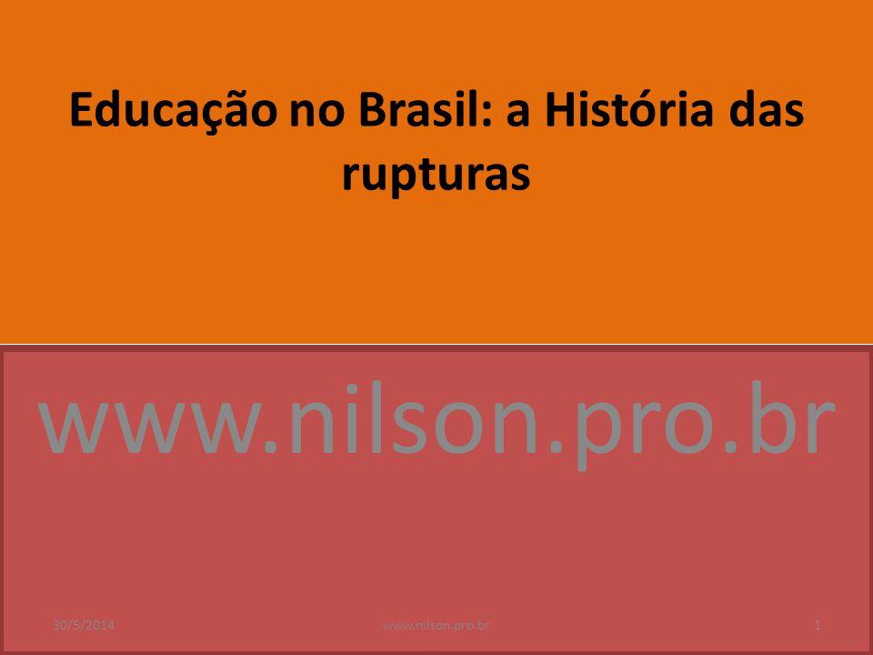 Educação no Brasil: a História das rupturas