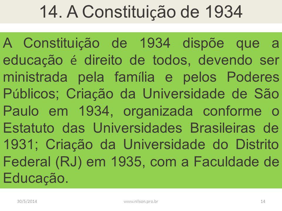 14. A Constituição de 1934