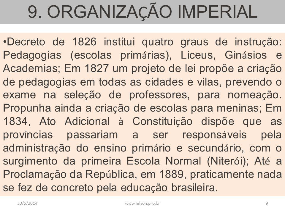 9. ORGANIZAÇÃO IMPERIAL