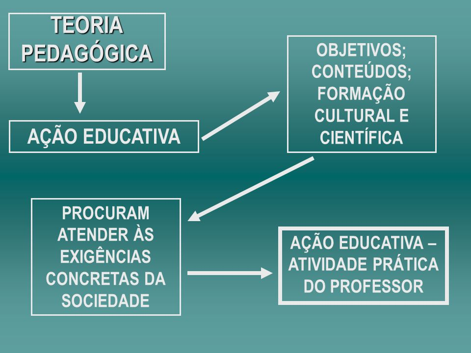 TEORIA PEDAGÓGICA AÇÃO EDUCATIVA