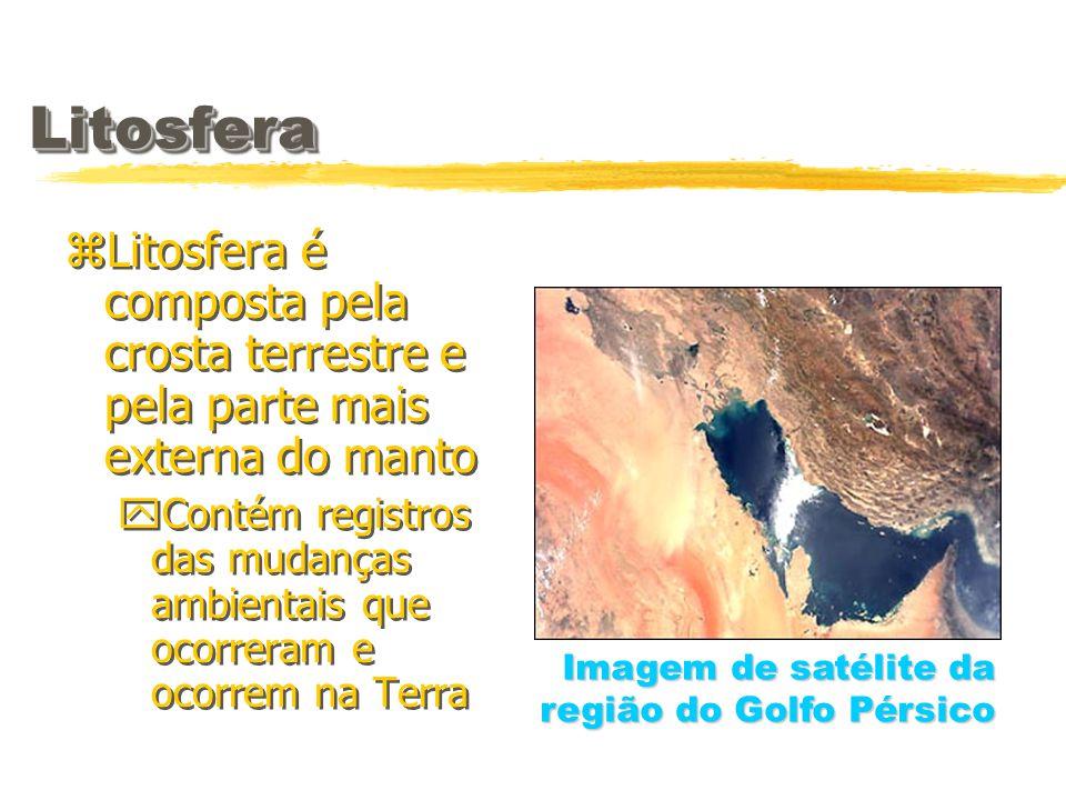Litosfera Litosfera é composta pela crosta terrestre e pela parte mais externa do manto.