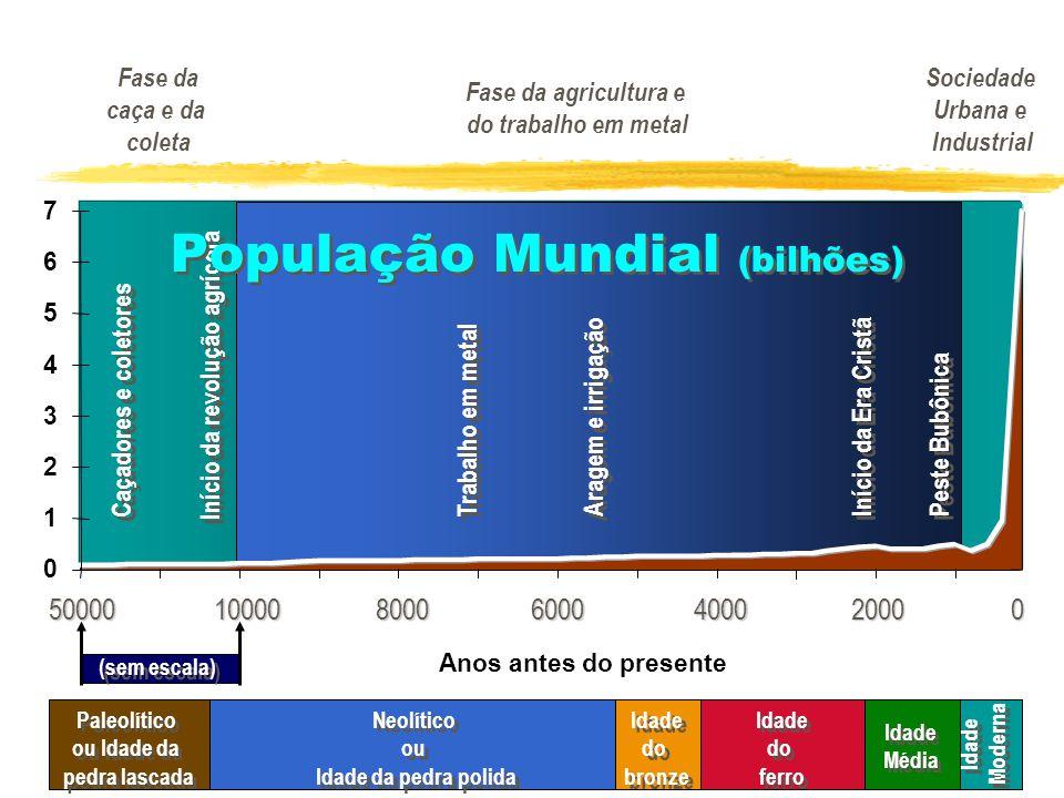 População Mundial (bilhões)