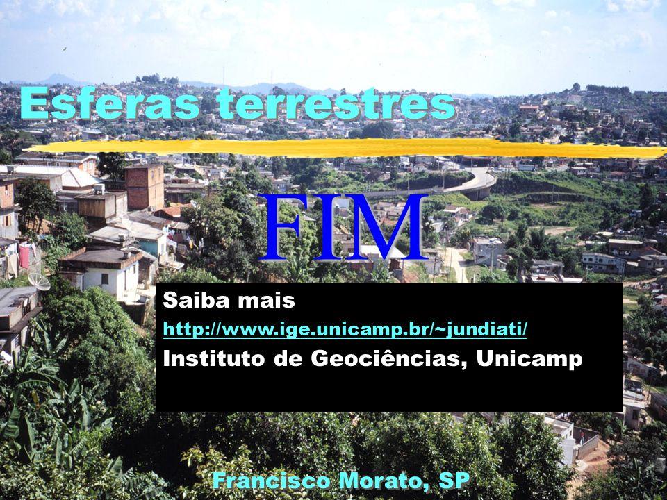 FIM Esferas terrestres Saiba mais Instituto de Geociências, Unicamp