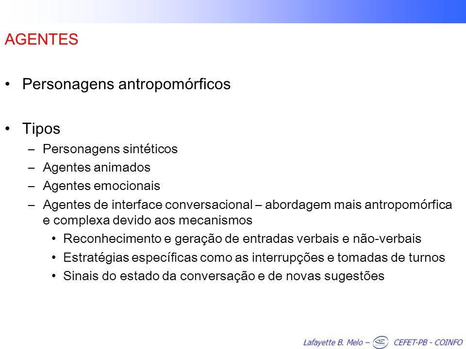 Personagens antropomórficos Tipos