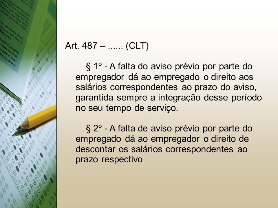 15151515 Art. 487 – ...... (CLT)