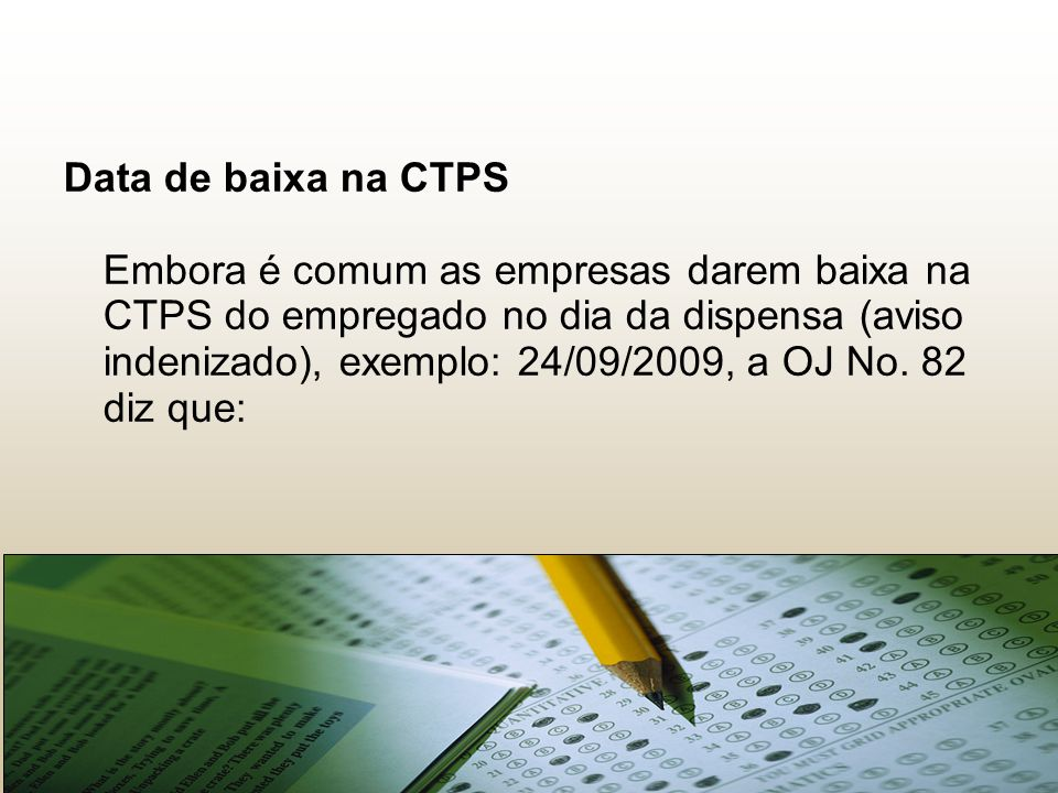 22222222 Data de baixa na CTPS.