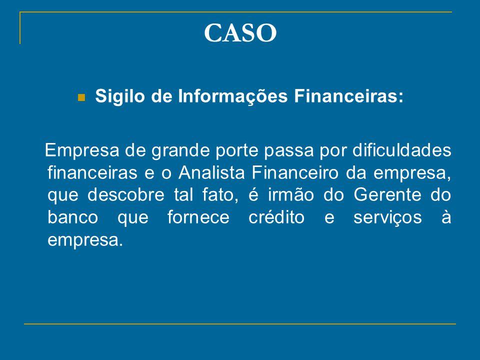 Sigilo de Informações Financeiras: