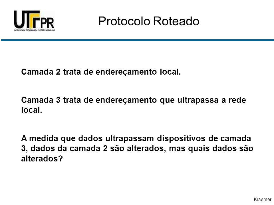 Protocolo Roteado Camada 2 trata de endereçamento local.
