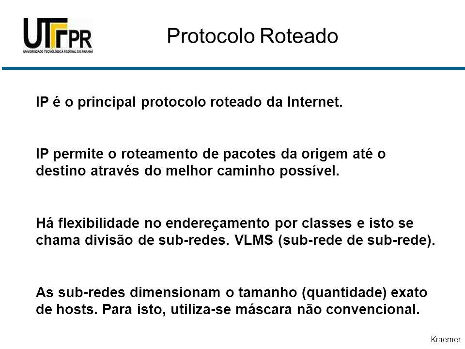Protocolo Roteado IP é o principal protocolo roteado da Internet.