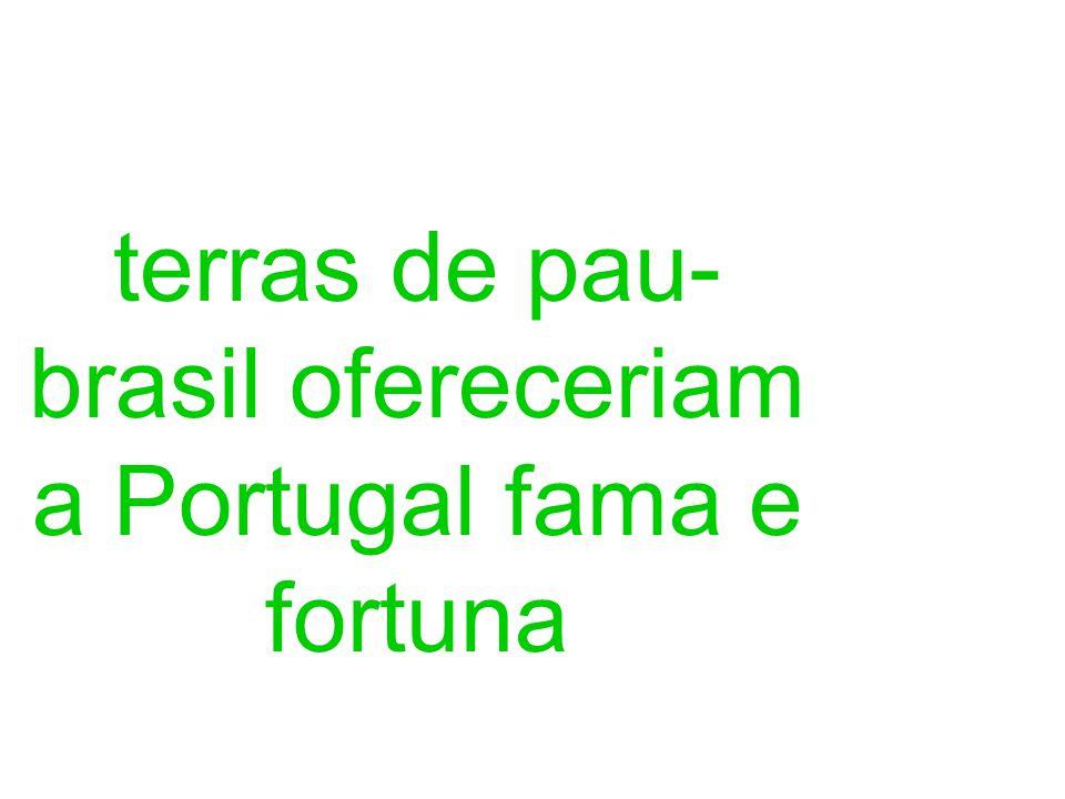 terras de pau-brasil ofereceriam a Portugal fama e fortuna