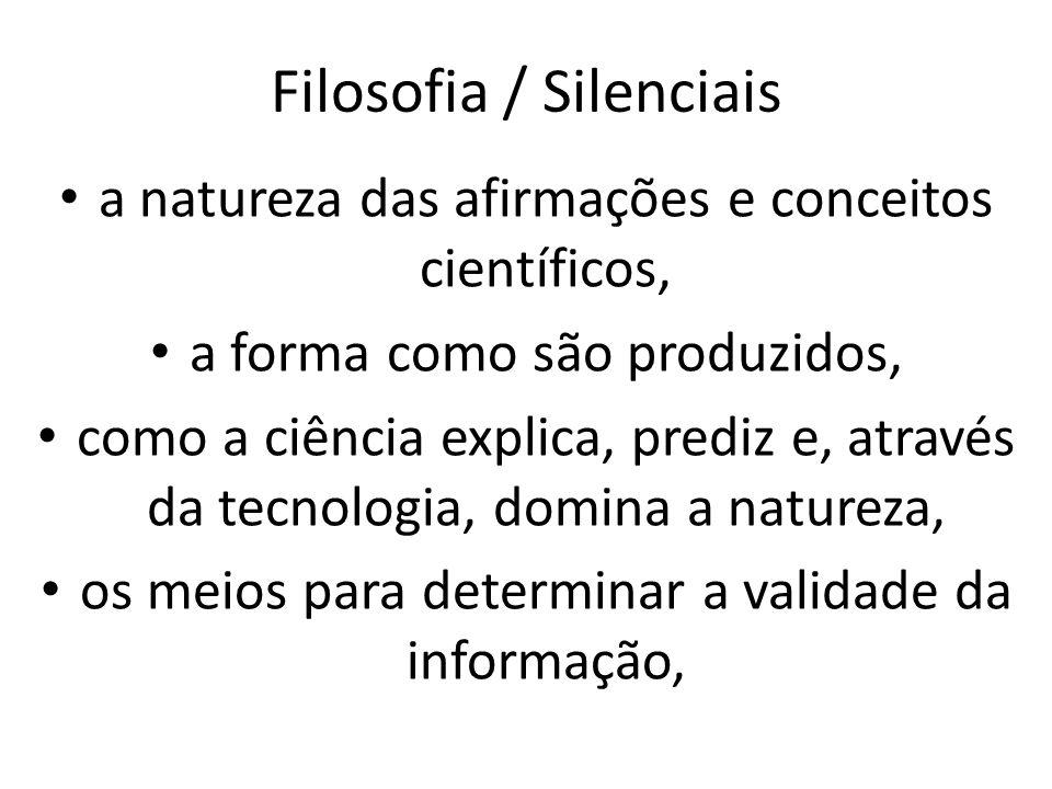 Filosofia / Silenciais
