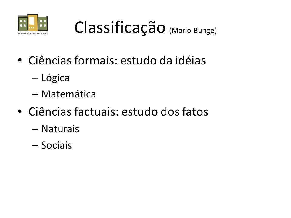Classificação (Mario Bunge)