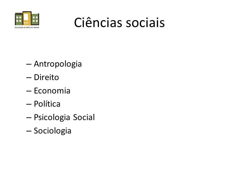 Ciências sociais Antropologia Direito Economia Política