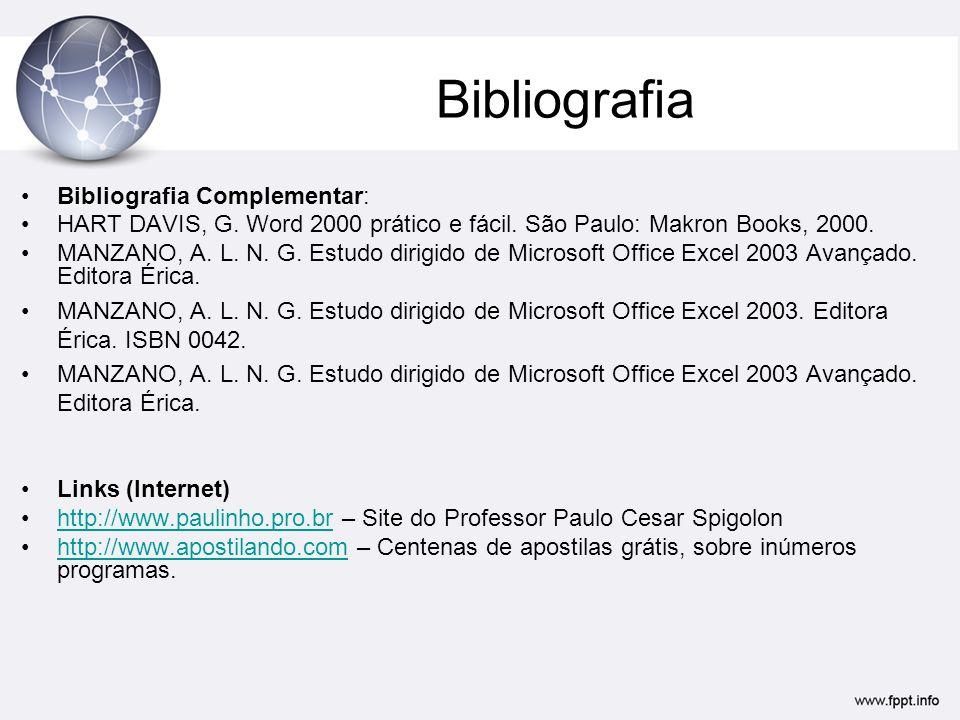 Bibliografia Bibliografia Complementar: