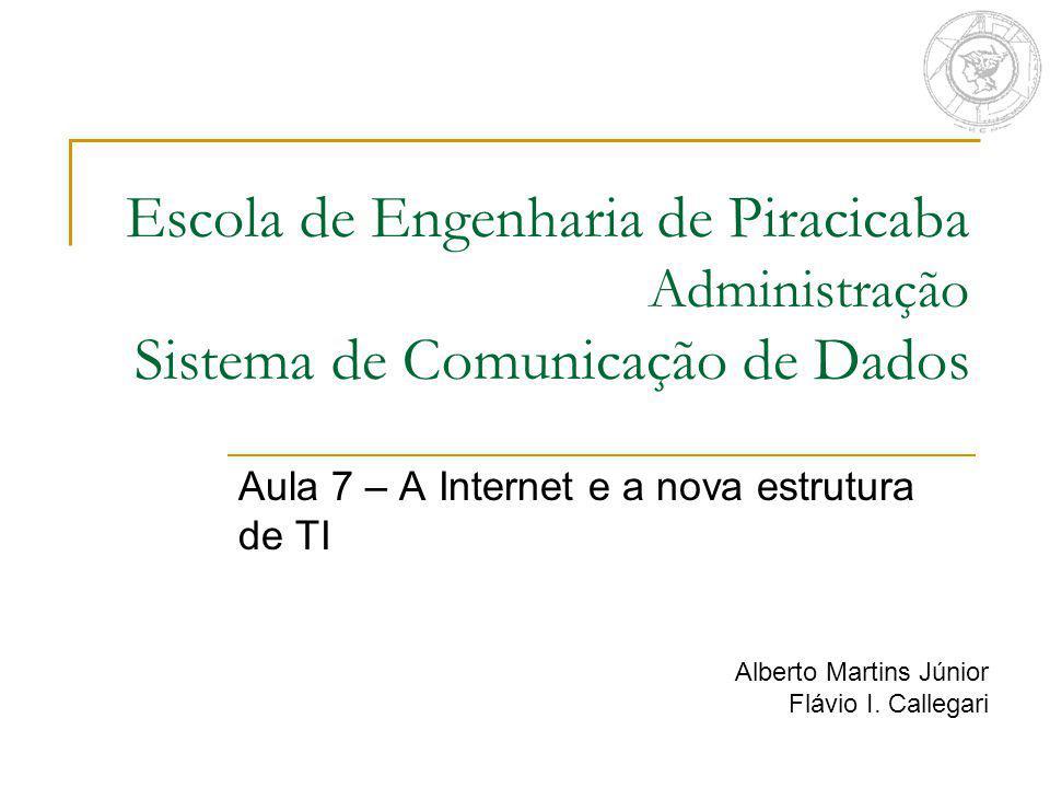 Aula 7 – A Internet e a nova estrutura de TI