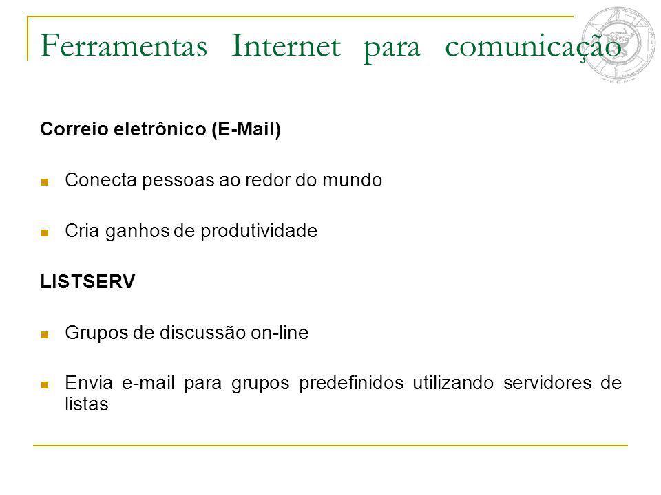 Ferramentas Internet para comunicação